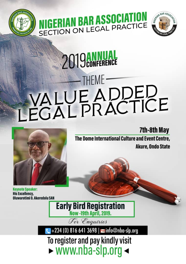 Register to attend NBA Section on Legal Practice Conference in Akure