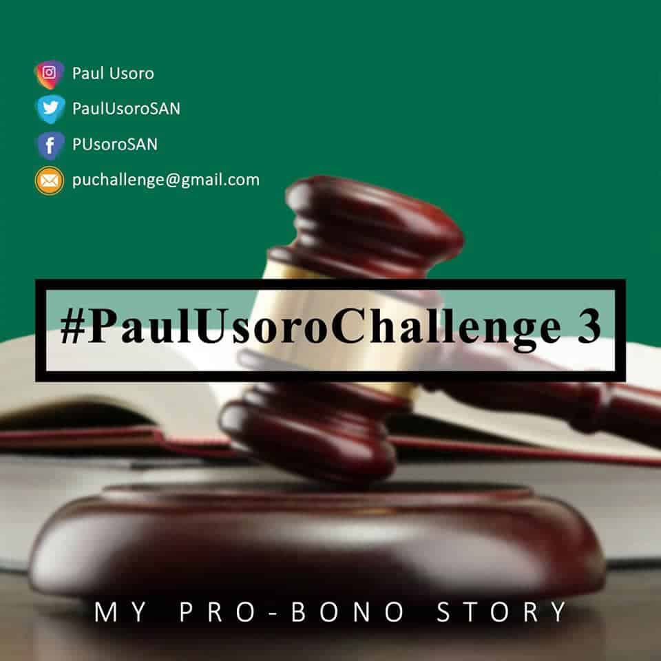 Entries for the Paul Usoro SAN Challenge 3 Close April 30, 2019 SEE GUIDELINES