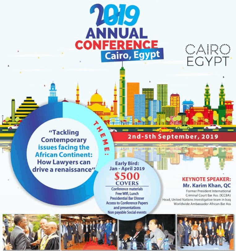 African Bar Association to hold Conference in Egypt SEE REGISTRATION DETAILS