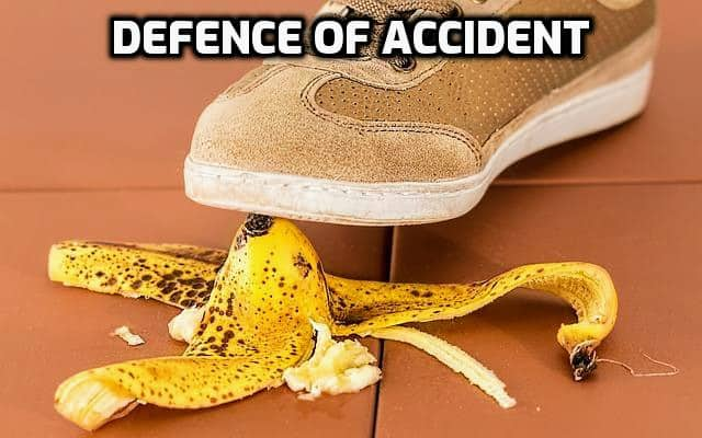 Elements that must be present for the Defence of Accident to Succeed