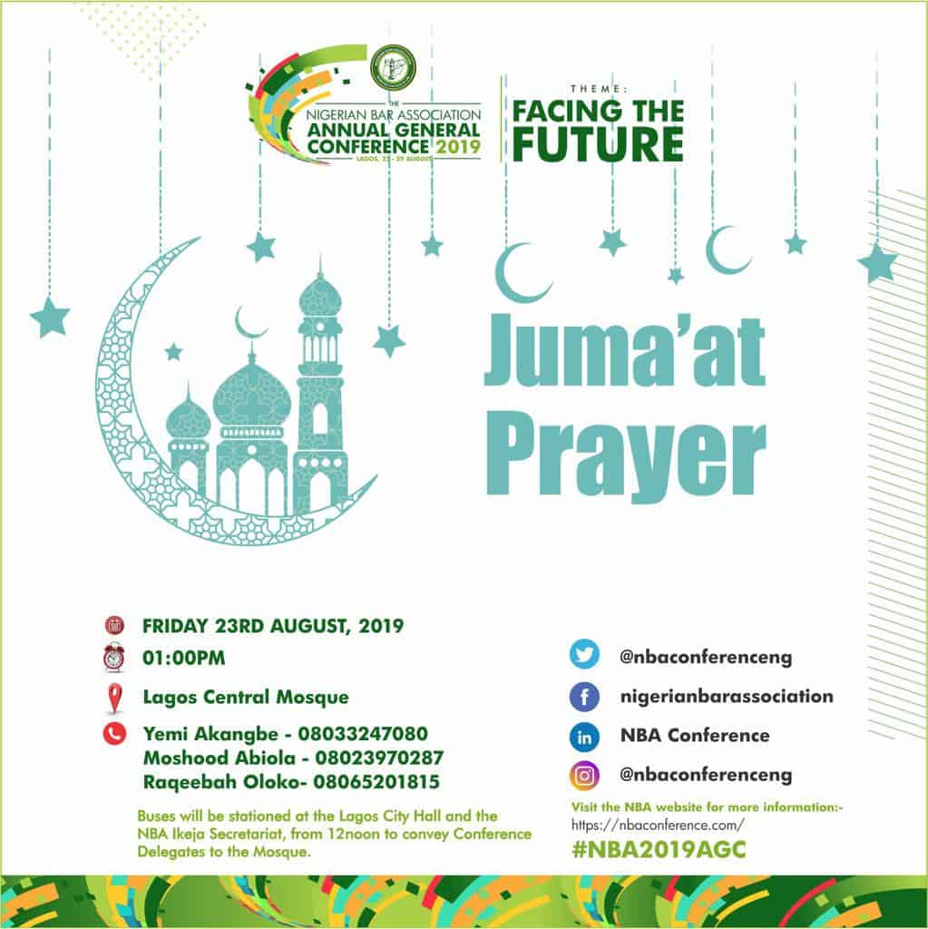 #NBA2019AGC to Commence with Juma'at Service August 23| Important Details