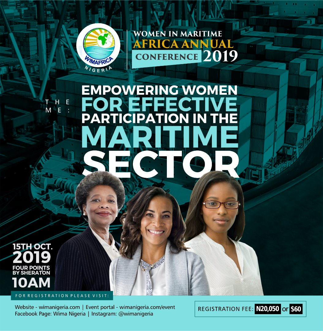 Register for Women in Maritime Africa Annual Conference| Oct 15| Empowering for Effective Participation in the Sector