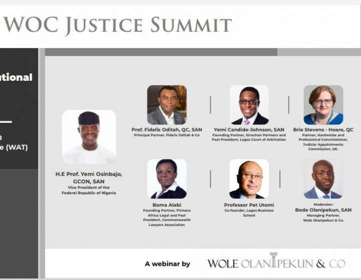 Register for the #WOCJusticeSummit on Developing an Institutional Concept of Justice in Nigeria