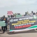 [Happening Now] NBA Jos, JUSUN Hold Protest in Support of the Judiciary Financial Autonomy [Video]