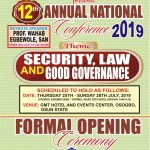 MULAN Annual Conference to Hold in Osogbo 25th-28th July  Security, Law and Good Governance