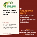 #NBAAGC2019  Usoro SAN, Governor Sule to Discuss Wealth Creating Opportunities in Nasarawa  Wednesday August 28  11am