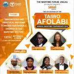 4th Taiwo Afolabi Maritime Conference Holds September 13  University of Lagos