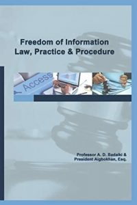 [Order Now] Freedom of Information Law, Practice and Procedure
